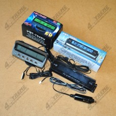 VST-7045v , VST-7013v автомобильные часы с термометром и вольтметром