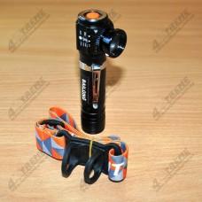 Комбинированный ручной / налобный светодиодный фонарь  Police w01-t6