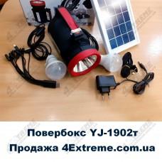 Кемпинговый фонарь повербанк с солнечной зарядкой YJ-1902T